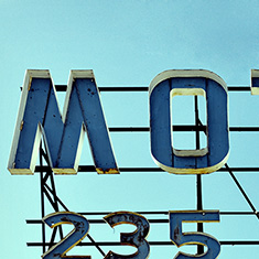 Motel 235 sign, Worcester, Massachusetts